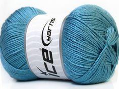 Ice yarn knitting yarn Baby AntiBacterial Light Blue