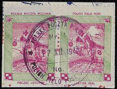 + 1944cd WW2 Poland Polish Field Post Pair Exile Mail in GB Pilot Plane Sotn