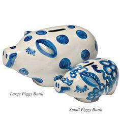 M.A. Hadley Pottery piggy banks, $35.50-$57.50
