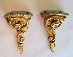 A pair of Rococo wall brackets   From a unique collection of antique and modern wall brackets at http://www.1stdibs.com/furniture/wall-decorations/wall-brackets/