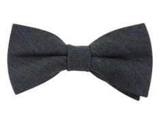 Wool Pinstripe - Charcoal (Wool Bow Ties)