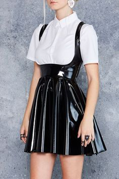 Show Us Ya Tops PVC Underbust Dress - Staples & Classics - Collections Solange Knowles, Kendall Et Kylie, Looks Style, My Style, Goth Style, Fashion Moda, Womens Fashion, Sexy Rock, Black Milk Clothing