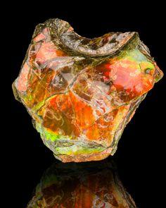 Ammolite gems are mined close to Drumheller, Alberta.
