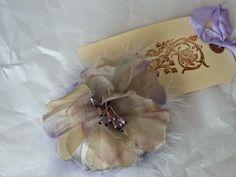 Purple Velvet Rose....... http://nostalgiaatthestonehouse.blogspot.co.uk/ Lovely hand-crafted powder puff