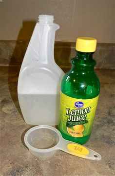 TOTALLY WORKS!!!!! I just used this on my jacuzzi tub that had hard water stains that nothing else would get out! MUST TRY THIS, YOU WONT BE DISAPPOINTED!!! Natural hard water stain removal product.   I mixed up 14oz. white vinegar, 2oz lemon juice, 2oz. dawn dish liquid.