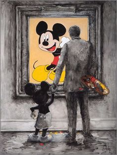 Hd Canvas Print Abstract Home Decor Wall Art Painting,Mickey Mouse-21/Unframed