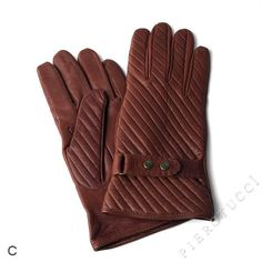EXTRA LARGE Cognac colored Ladies Leather Gloves, Italian $68