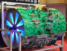 20,000 LEGOs turned into a musical instrument that plays the Star Wars theme song!