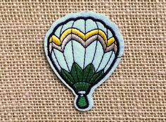 """Hot Air Balloon Patches for Jackets Hats Shoes. Punk Grunge Rock Band Cute Hipster Patches 2.5"""" x 2"""" DIY Iron On Patch."""