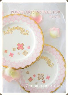 ◆Che'rie Collection・名古屋プリザーブドフラワー&ポーセラーツサロン-ポーセラーツ卒業作品