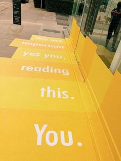 Yellow cute aesthetic quote on sidewalk Happy Vibes, Good Vibes, Foto Top, Was Ist Pinterest, Happy Colors, Mellow Yellow, Pastel Yellow, Happy Thoughts, My Sunshine