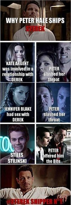Peter ships Sterek: interesting theory, but I think he's just jealous of him.: