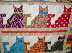 Baby cat quilt-Calico Cats 2