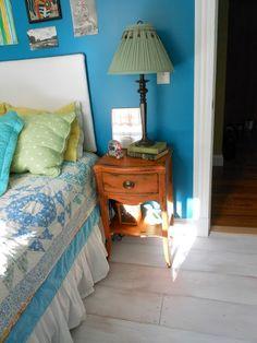 whitewashed plywood floor idea