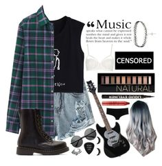 Untitled #9 by whoochu on Polyvore featuring polyvore, fashion, style, Uniqlo, Topshop, D&G, Dr. Martens, ASOS, VidaKush, Forever 21, H&M, tarte, tumblr, Inspired, grunge, PunkRock and 90sgrunge