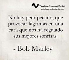 Gran reflexión de Bob Marley...