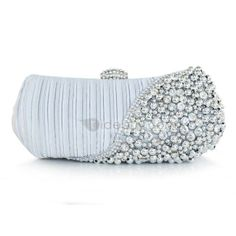 US$44.99 Sweet Lady Studded With Rhinestone Pearl Handbag. #Clutch #Handbag #Sweet #With