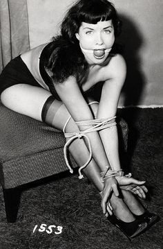 in gallery bettie page vintage bondage