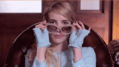 When Emma Roberts removed her designer sunglasses just so.