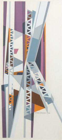 Edmund Lewandowski - Vertical Abstract (1956)