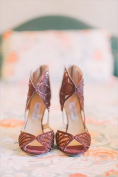 Jimmy Choo butterfly wedding shoes we ❤ this! moncheribridals.com #weddingshoes
