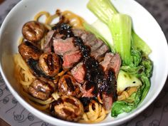 Noodles with Flank Steak, Bok Choy, and Black Bean Sauce | Serious Eats : Recipes