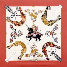 luxury-scarves.com 'Samourai', Zoe Pauwels. 1991