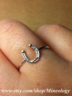 Love my pretty little horse shoe ring!