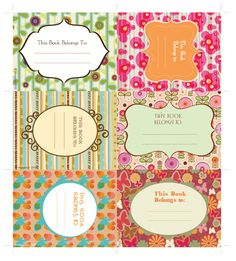 Free printables. Clothespin labels, Organizing labels, bookmarks, Holiday gift tags, halloween stickers, pumpkin carving templates, labels, book plates, vintage valentines, masks.