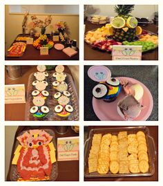 Owl Themed Party Food   the owl fruit platter contained an owl which is made
