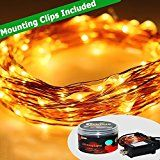 [Outdoor and Indoor LED String Lights]SpiritLED 33ft 100LEDs String LightsWarm White Starry LightsCopper Wire... christmas deals week