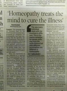 Homeopathy treats th