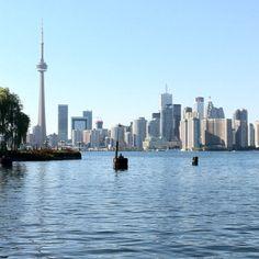 Toronto Skyline from Centre Island #cityscape