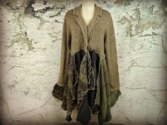 Metallic Taupe Bohemian Gypsy Sweater Coat// by emmevielle on Etsy $145.00