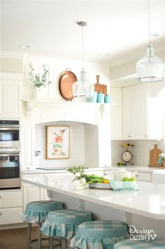 Finally sharing my white kitchen remodel. I love this kitchen it makes me want to cook in it. Organization ,creative hidden storage and it's pretty!