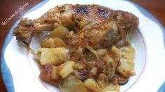 La Cocina de Mertxe: Muslo y contra muslos de pollo con patatas a la pa...