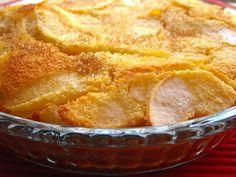 Tarte queijada de maçã com coco