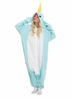 A snuggly narwhal onesie for lounging, wearing on Halloween, walking around the city — the possibilities are endless. | 36 Of The Best Things To Buy On Amazon When You're Drunk