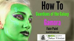 iLoveToCreate | How to: Guardians of the Galaxy Gamora Face Paint by @boifromipanema