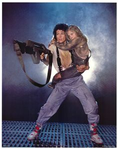 Aliens Ripley and Newt  This is who Stephen wants Moni and I to be for Halloween. Good grief.