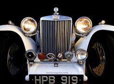 1938 MG TA British Sports Cars, Classic Sports Cars, Classic Cars, Vintage Cars, Antique Cars, Mg Midget, Veteran Car, Mg Cars, Austin Healey