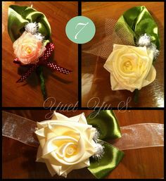 DIY Bride Yuet Yu S. from Kuala Lampur, Malaysia: creates her own boutonnieres, corsages, and much Kuala Lampur, Corsages, Boutonnieres, Cute Couples, Brides, Table Decorations, This Or That Questions, Create, Flowers