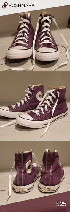 a94975928761 Converse high tops... Converse high tops purple used but in good condition  Converse