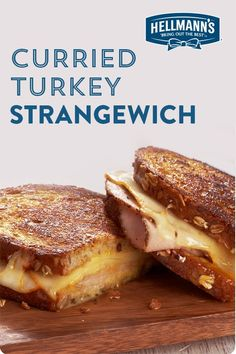 Part turkey, part grilled cheese, with curry mayo bringing it all together. Great sandwich for leftovers. Click through for full recipe. Healthy Breakfast Recipes, Healthy Snacks, Healthy Eating, Pesto, Ideas Sándwich, Food Ideas, Good Food, Yummy Food, Yummy Recipes
