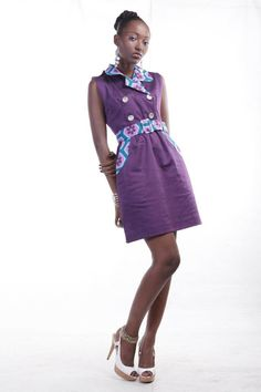 MAKSI - Trench Dress. To order please email info@maksiclothing.com or call +233 24 2370 212
