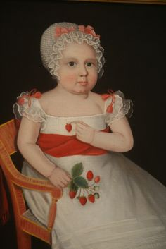 The Strawberry Girl, oil on canvas, ca. 1830, Ammi Phillips (American, 1788-1865), National Gallery of Art, Washington DC., 2012