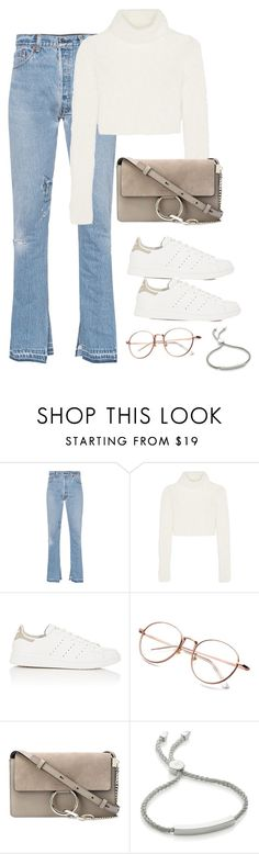 """""""Untitled #3042"""" by theaverageauburn ❤ liked on Polyvore featuring RE/DONE, Roberto Cavalli, adidas, Chloé and Monica Vinader"""