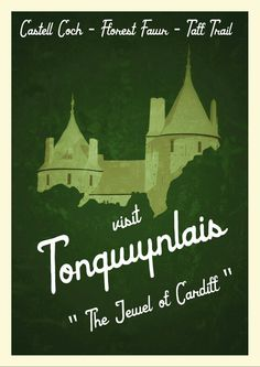 Castell Coch vintage tourism poster