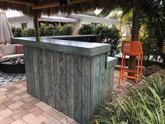 Blue Beach Bar Kitchen 8 x 6 2-level Shabby Chic Rustic Barn | Etsy Rustic Outdoor, Rustic Barn, Barn Wood, Outdoor Decor, Indoor Bar, Patio Bar Set, Bar Kitchen, Blue Beach, Beach Bars