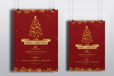 Christmas Invitation Template  Holiday party by TemplateStock